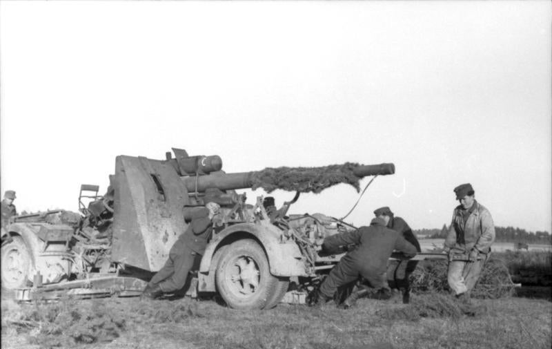 You can see the most notorious German artillery piece be fired