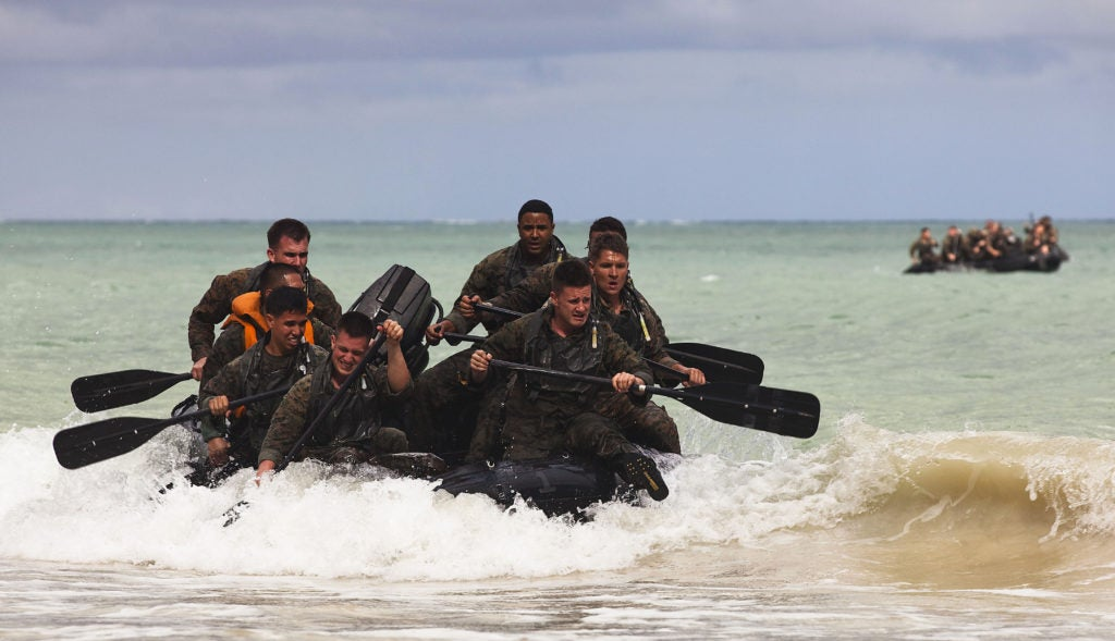 Marines want to swarm enemy defenses with hundreds of small boats