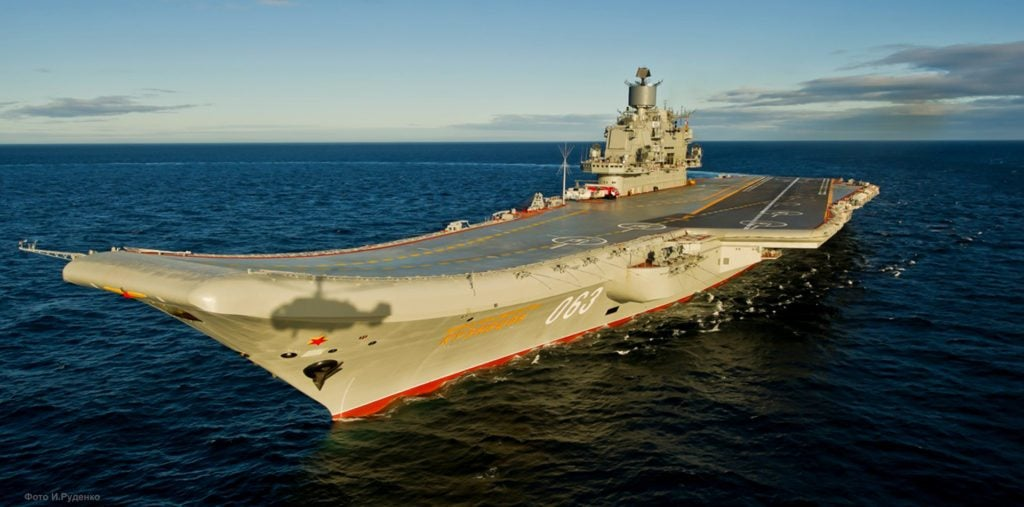 Admiral Kuznetsov, an aircraft carrier