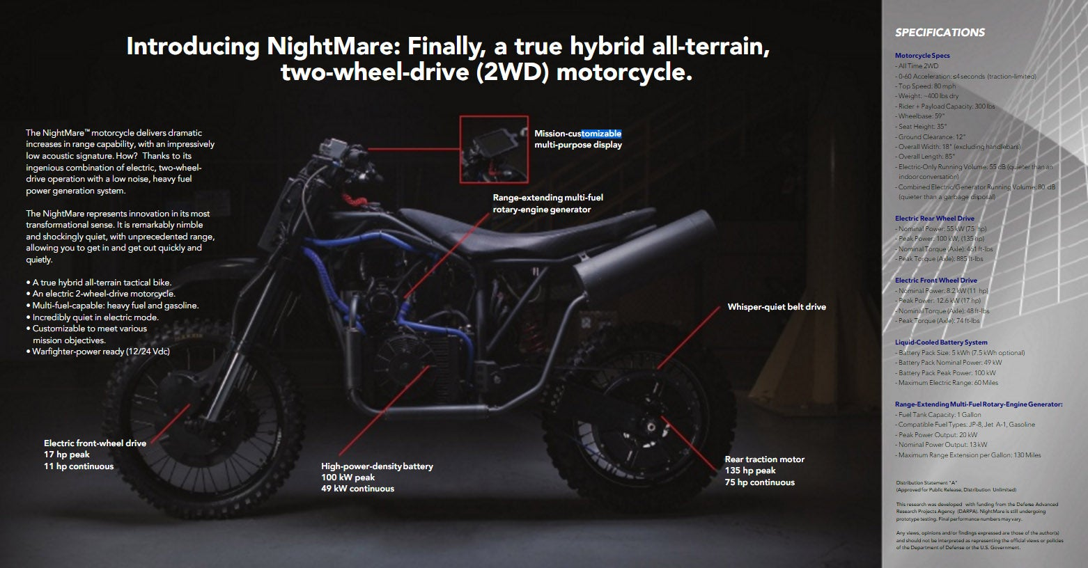 These are the new custom stealth dirt bikes made for covert ops