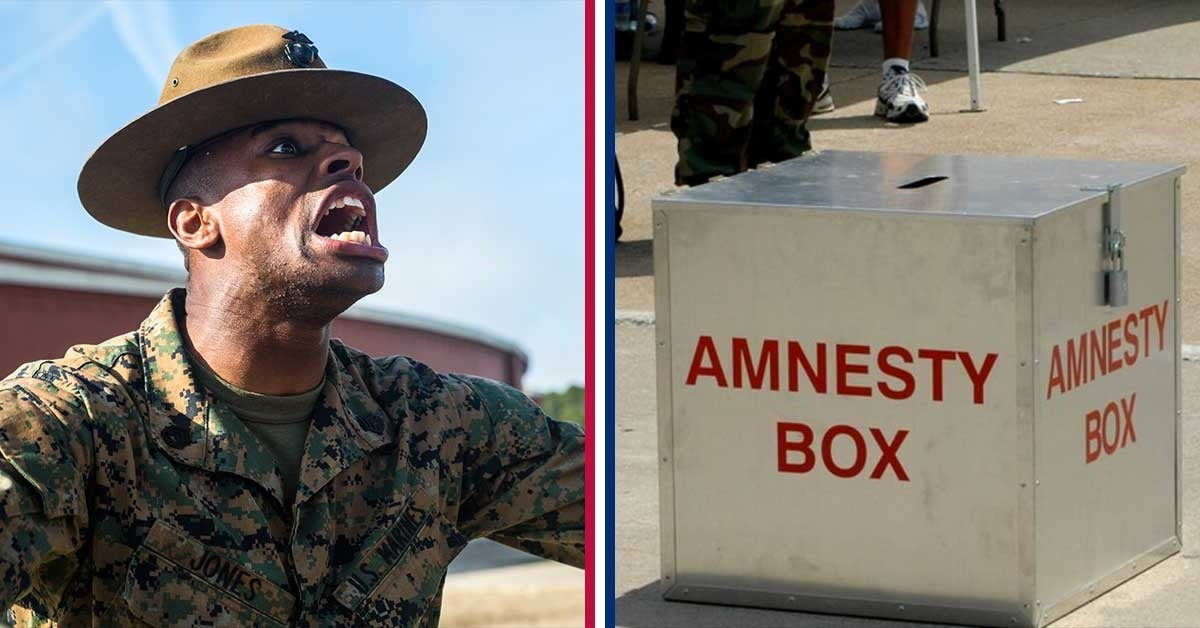 6 crazy things actually found in boot camp amnesty boxes