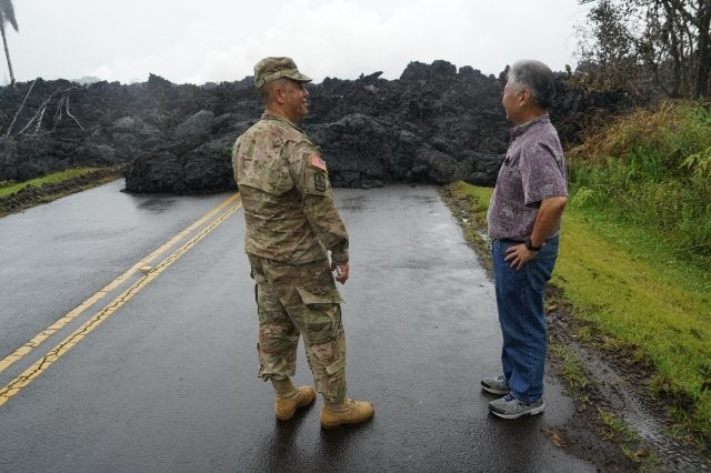 Army National Guard helping in Hawaii as volcano erupts