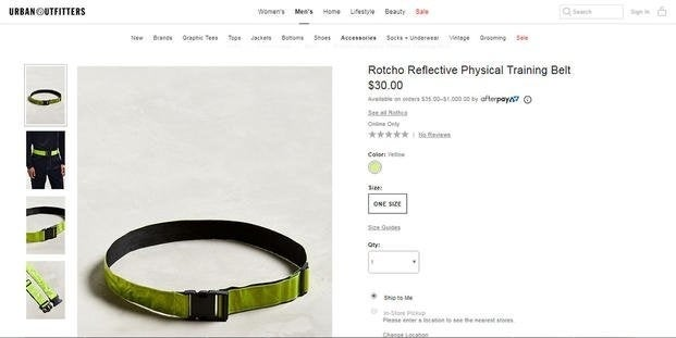 Urban Outfitters is now selling the famous PT belt