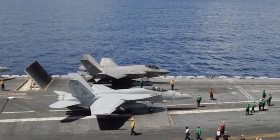 The Navy's new supercarriers can't deploy with the new stealth fighters