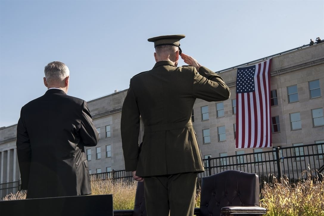 How the vice president and Pentagon commemorated 9/11