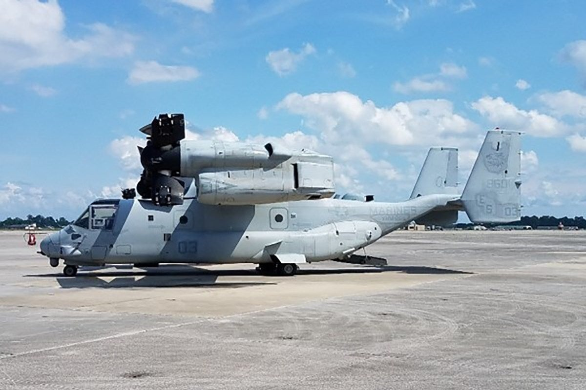 Mysterious bulges on V-22 Ospreys have been identified