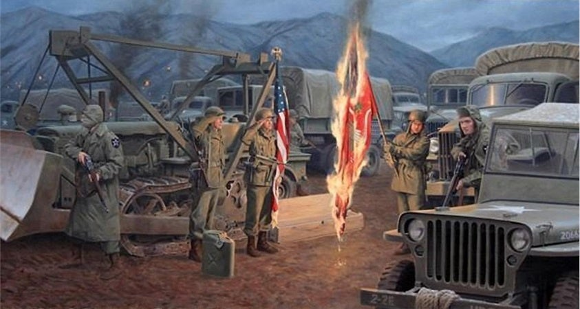 This is why these engineers burn their battalion colors every year