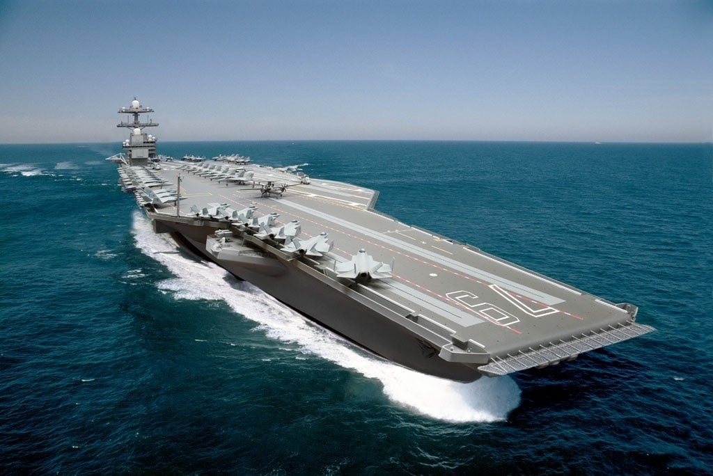 Navy prepares to shock its largest-ever warship