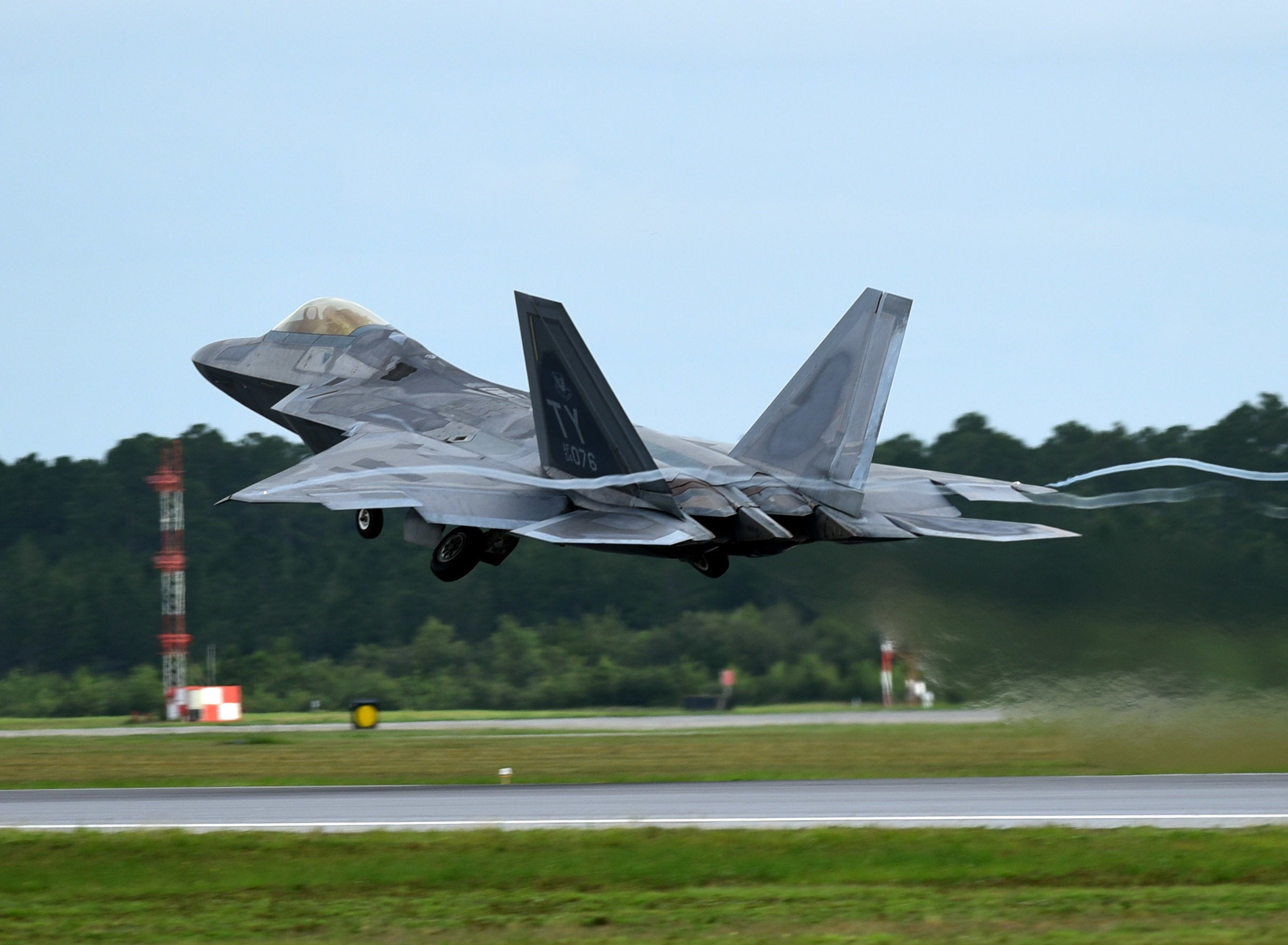 Why the Air Force knowingly left F-22s in the hurricane's path