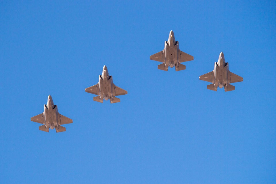 13 photos of that huge, Air Force F-35 display