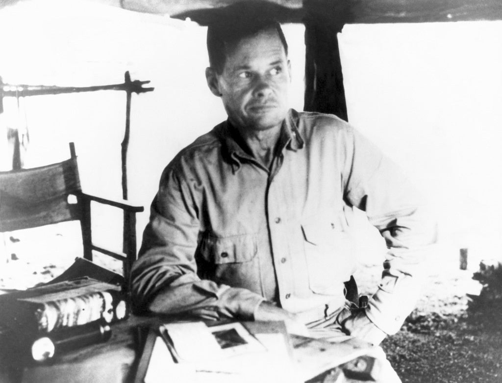 """Lt. Col. Lewis """"Chesty"""" Puller at a command post at Guadalcanal in World War II."""