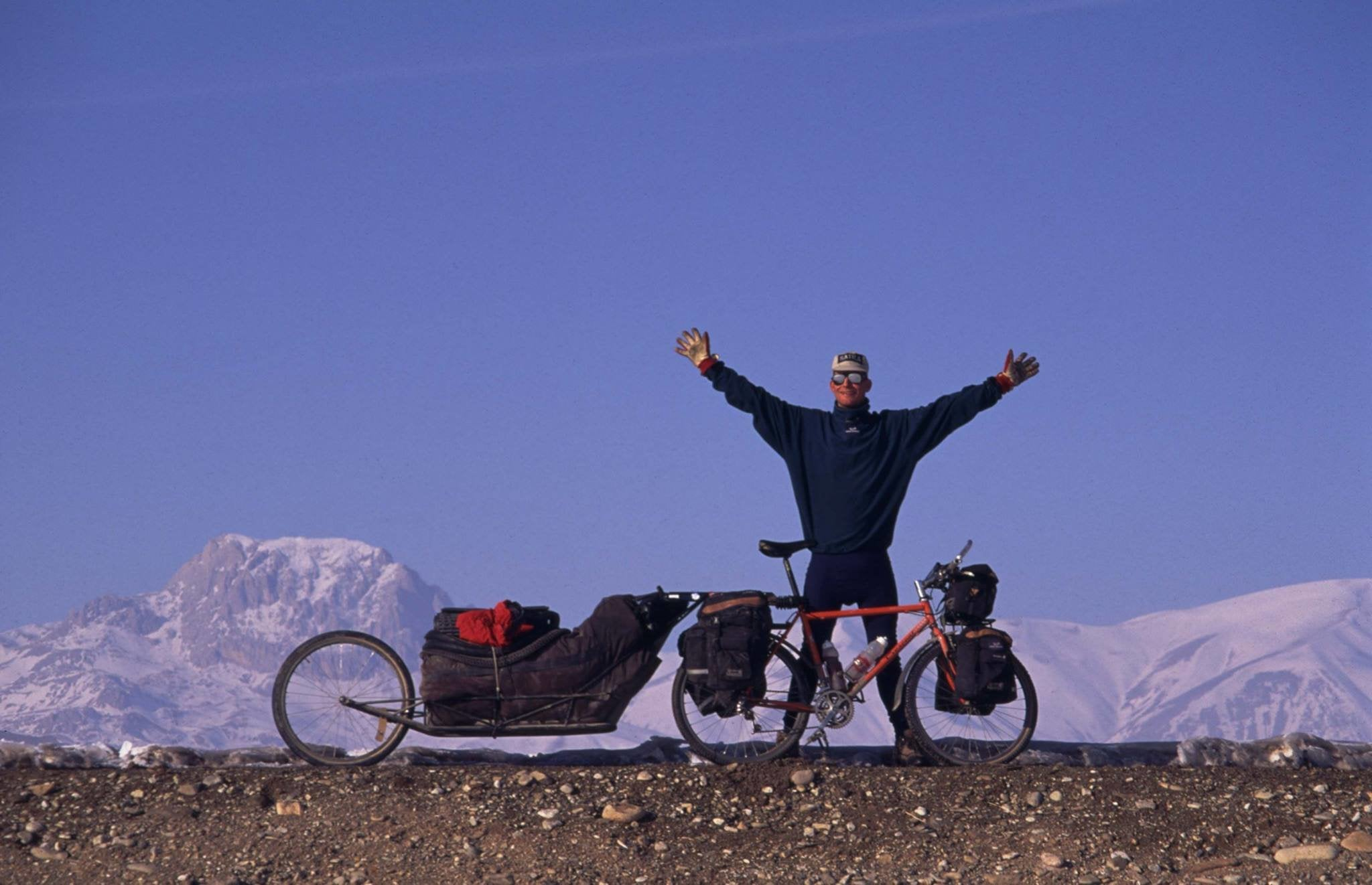 The 'crazy Swede' was a paratrooper who rode his bike to summit Everest