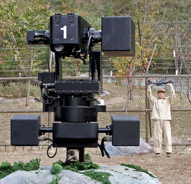 These insane robot machine guns guard the Korean DMZ