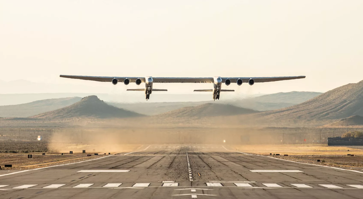The world's biggest airplane took its first flight ever