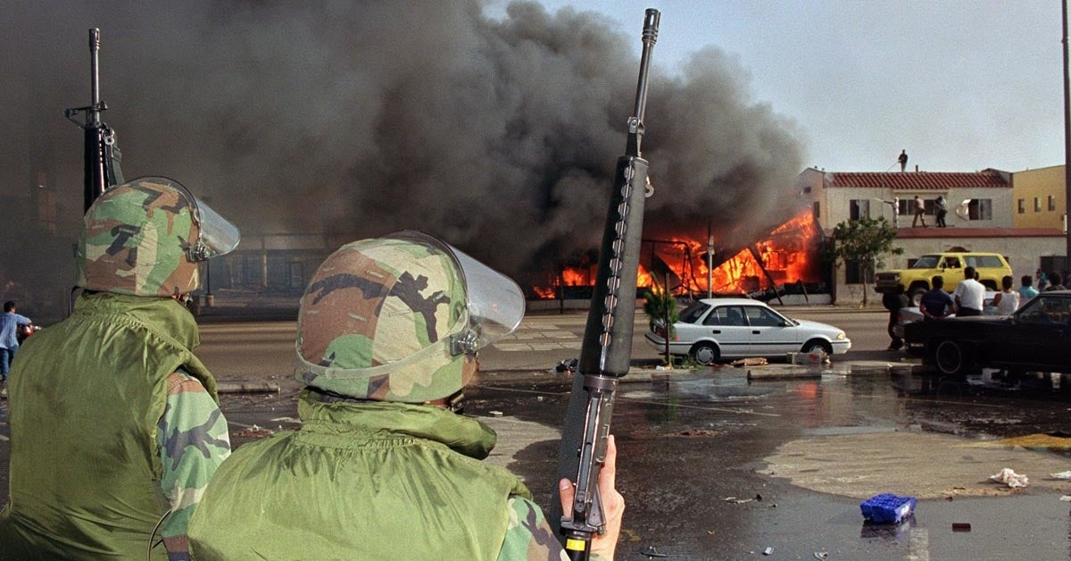 www.wearethemighty.com: Marines stole the spotlight from the National Guard in the LA Riots