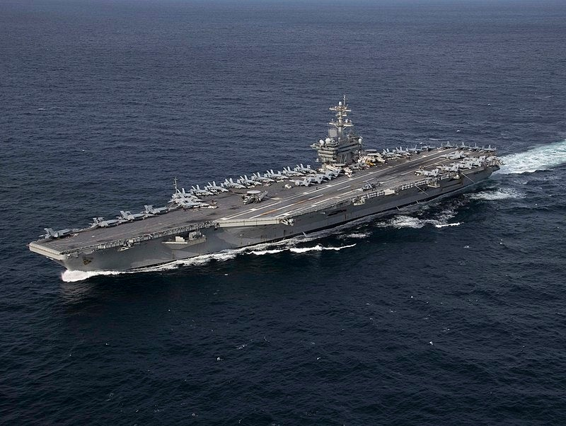 Here's why the aircraft carrier sent to confront Iran is hanging back