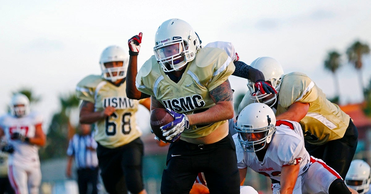 Three ways playing football for the military is nothing like playing in college