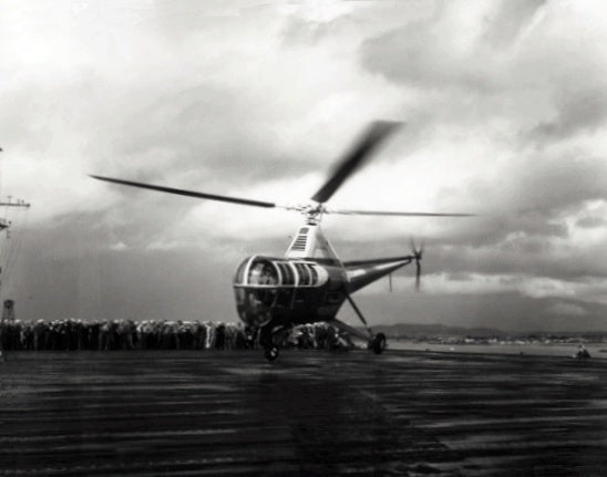 The crazy story of the first helicopter rescue at sea