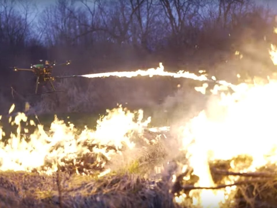 You can now buy this terrifying flamethrower to attach to your drone