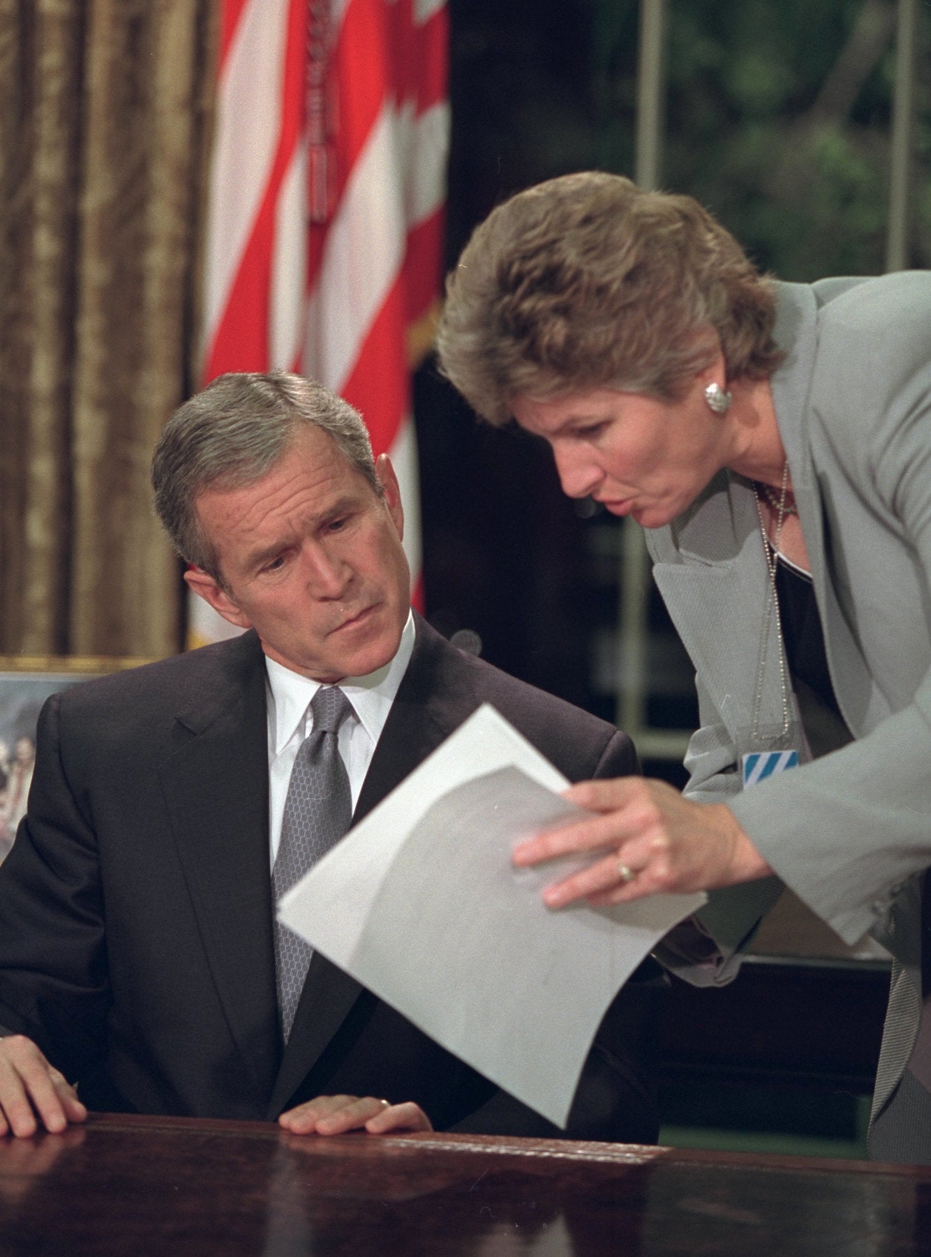 Photos show moment President George W. Bush learned of the 9/11 attacks