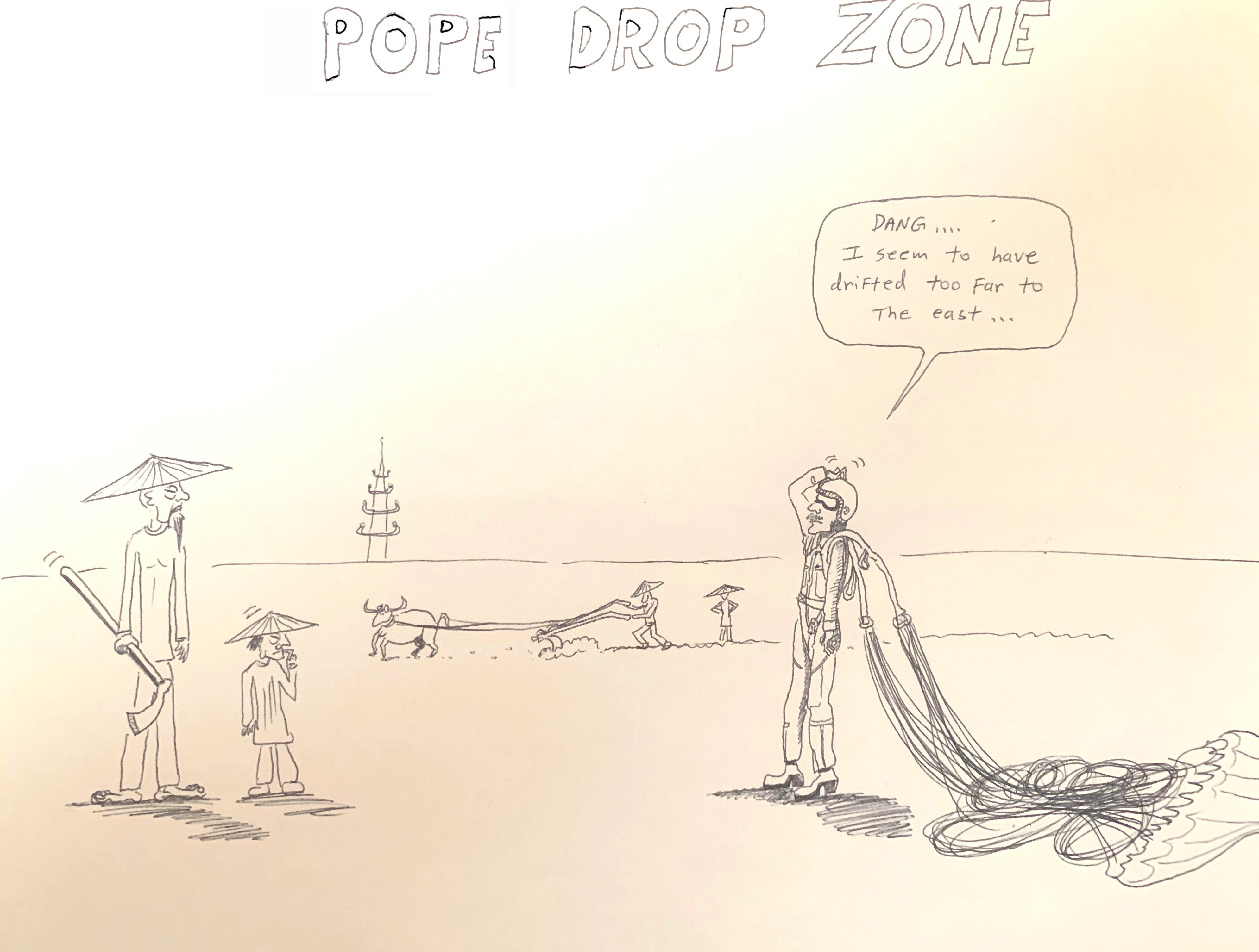 Never miss the drop zone when the Unit Cartoonist is watching