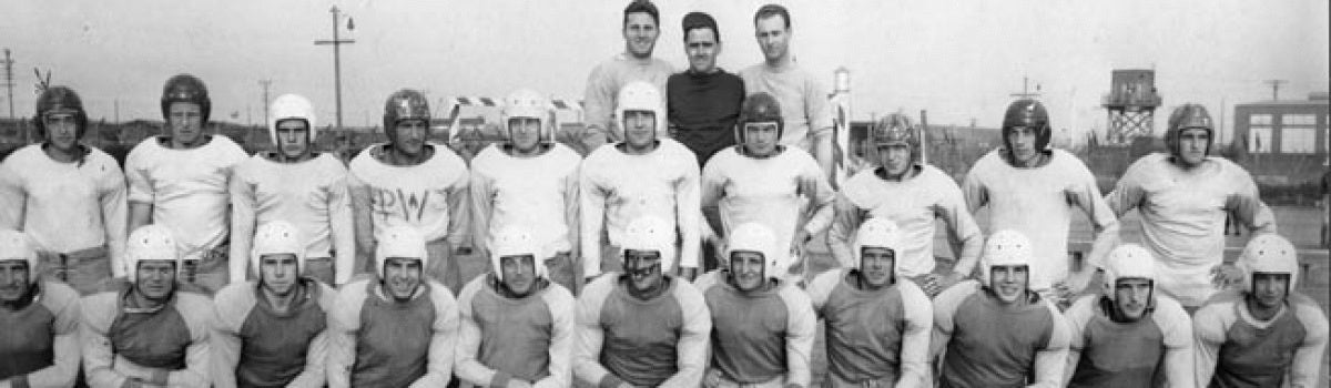 German POWs hit the gridiron for the Barbwire Bowl Classic