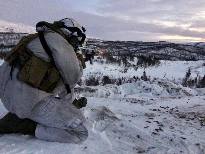 US and Norwegian forces prepare for winter warfare