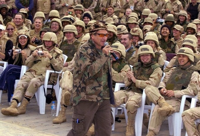 Looking back on the USO tour legacy of Robin Williams