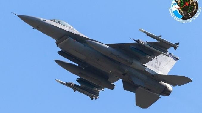 "U.S. F-16s from Aviano take part in exercise ""Agile Buzzard"""