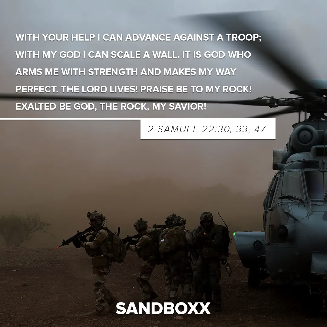 Motivational Bible verses for your recruit at basic training