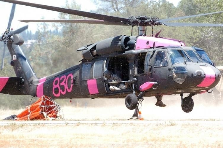 The reason these military helicopters are painted pink